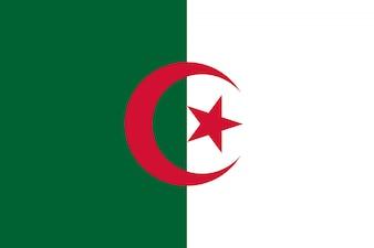 Bandeira da Argélia. Ilustração da bandeira argelina.