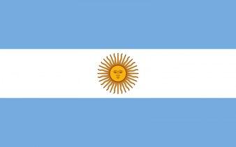 Bandeira da Argentina. Ilustração da bandeira argentina.