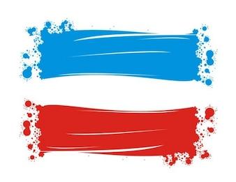 Bandeira da Jugoslávia feito com tinta