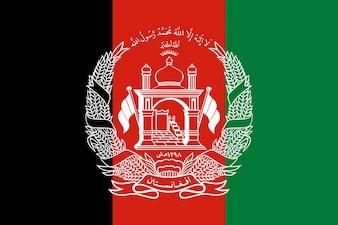 Bandeira do Afeganistão. Ilustração da bandeira afegã.