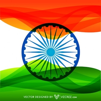 Bandeira indiana Colorful