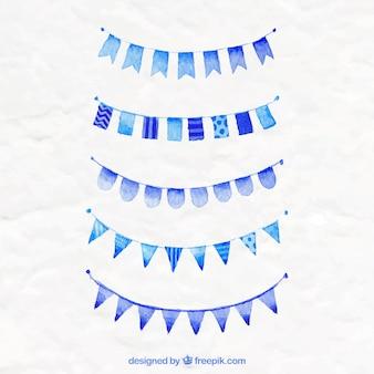 Bandeiras azuis do partido
