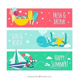 Bandeiras bonitos para o verão