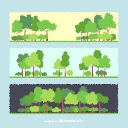 Bandeiras da árvore