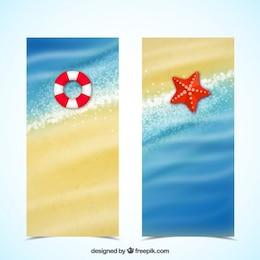 Bandeiras da praia do verão