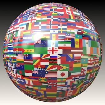 Bandeiras terra bandeira globo globalização mundial atlas