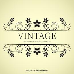 banner flor vintage