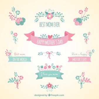 Banners bonito da fita para o dia das mães