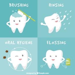 Banners de higiene bucal