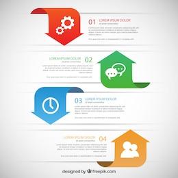 Banners Infographic com setas