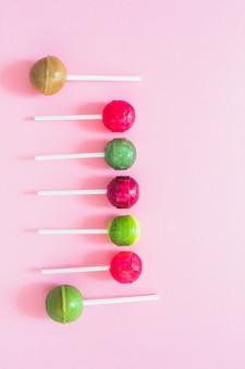 Bastão de lollipops saborosos