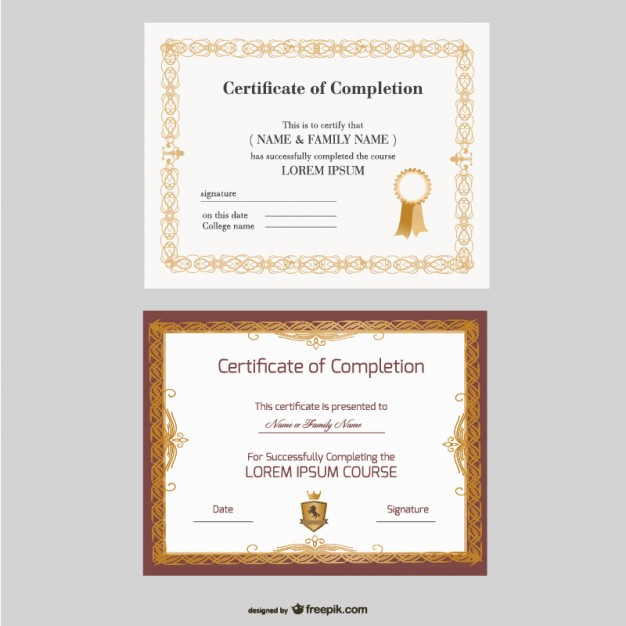 belo certificado vector templates