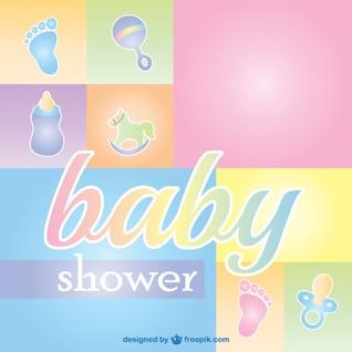Bebê chuveiro cartão