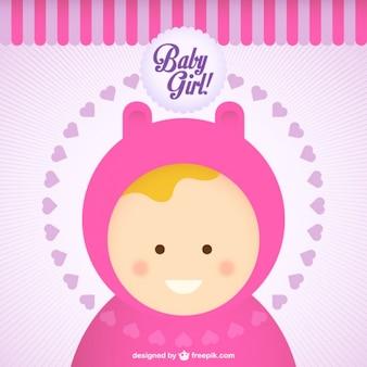 Bebê dos desenhos animados menina