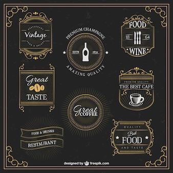 Bebidas retro emblemas