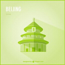 Beijing marco vetor