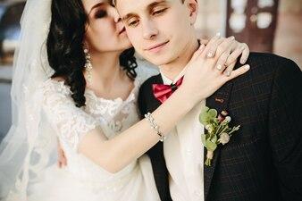 Bela ligação de casamento