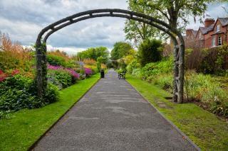 Belfast jardins botânicos passagem hdr