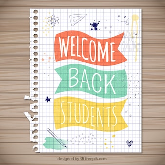 Bem-vindo de volta estudantes