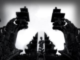 Besakih bali templo escuro