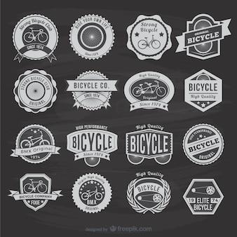 Bicicleta do vintage adesivos