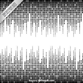Preto e branco fundo equalizador