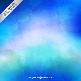 Fundo azul no estilo da aguarela