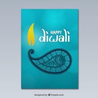 Bokeh Diwali saudação