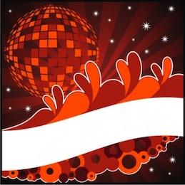 Bola brilhante do disco com formas abstratas