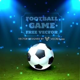 Bola de futebol com luzes brilhantes