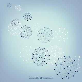 Bola esferas estrutura vetor