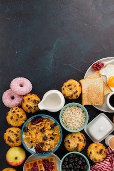 Bolinho de muesli para um delicioso café da manhã