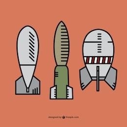 Bombas desenhadas mão embalar