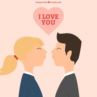 Bonito casal se beijando