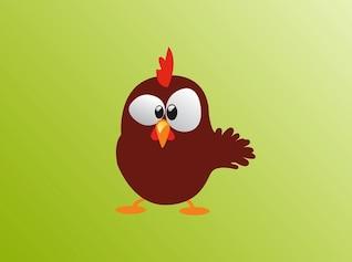 Bonito confuso desenhos animados da galinha vector