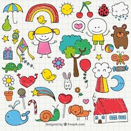 Bonito crianças desenho