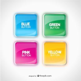 Botões brilhantes coloridos