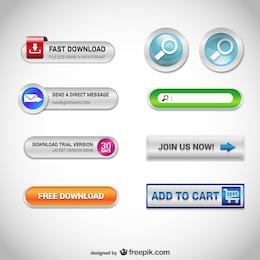 Botões de web conjunto gratuito