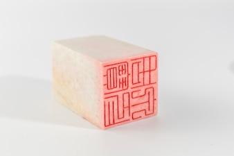 Branco assinalar animal stamper stamper escultura