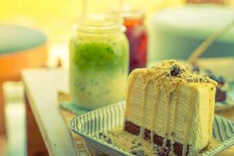 Branco frio bolo sobremesa fresco