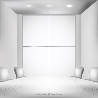 Branco interior do escritório