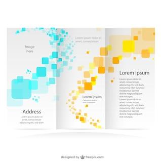 Brochura marca mock-up gratuito gráficos