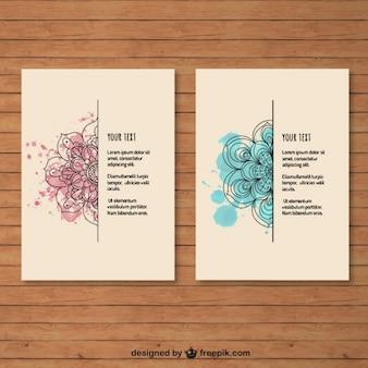 Brochuras mandala da aguarela