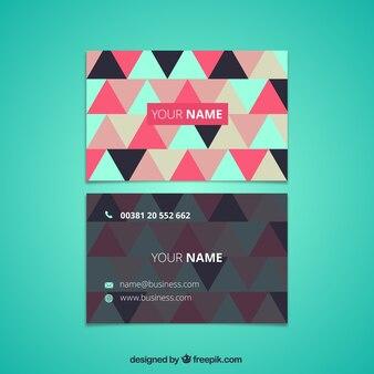Cartão de visita com triângulos