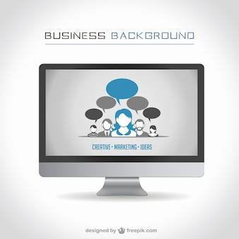 Projeto monitor de computador de negócios