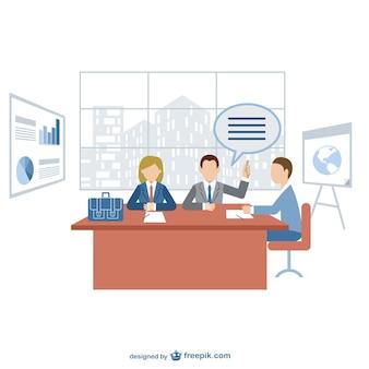 Vetor reunião de negócios livre para dowload