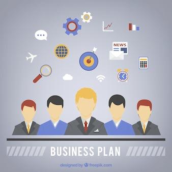Plano de negócios infográfico