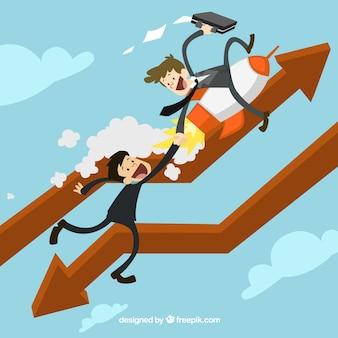 Empresários de ajudar uns aos outros