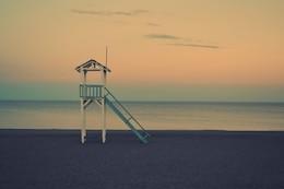 cabana de salva-vidas na praia