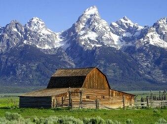 cabana nacional wyoming mormonisch EUA celeiro parque